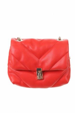 Γυναικεία τσάντα Zara, Χρώμα Κόκκινο, Δερματίνη, Τιμή 19,49€