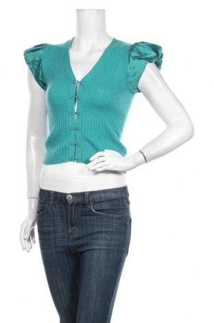 Дамска жилетка Karen Millen, Размер S, Цвят Зелен, Кашмир, коприна, Цена 46,50лв.