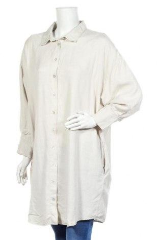 Дамска риза Zara, Размер XXL, Цвят Сив, Лиосел, Цена 44,25лв.