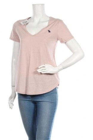 Tricou de femei Abercrombie & Fitch, Mărime M, Culoare Roz, Bumbac, Preț 138,16 Lei