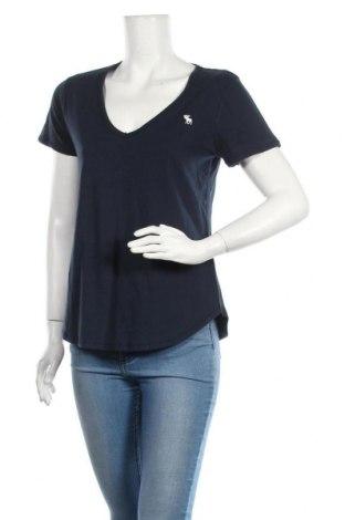 Дамска тениска Abercrombie & Fitch, Размер M, Цвят Син, Памук, Цена 33,60лв.