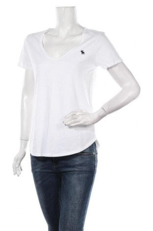Дамска тениска Abercrombie & Fitch, Размер M, Цвят Бял, Памук, Цена 42,00лв.