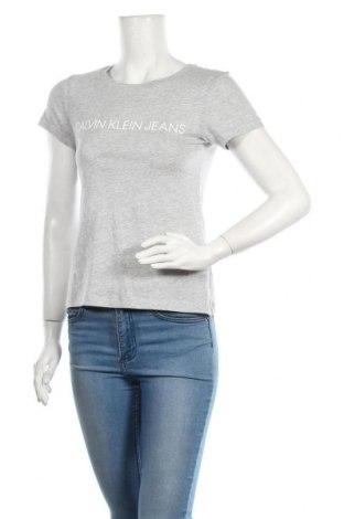 Tricou de femei Calvin Klein Jeans, Mărime XS, Culoare Gri, Bumbac, Preț 145,56 Lei