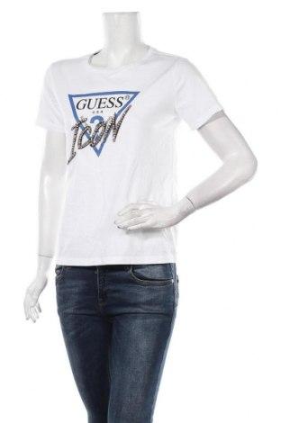 Γυναικείο t-shirt Guess, Μέγεθος M, Χρώμα Λευκό, Βαμβάκι, Τιμή 25,13€