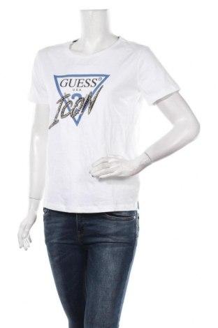 Γυναικείο t-shirt Guess, Μέγεθος M, Χρώμα Λευκό, Βαμβάκι, Τιμή 26,68€