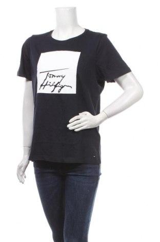 Дамска тениска Tommy Hilfiger, Размер L, Цвят Син, Памук, Цена 59,25лв.
