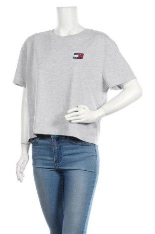 Tricou de femei Tommy Hilfiger, Mărime L, Culoare Gri, 50% bumbac, 50% poliester, Preț 167,76 Lei