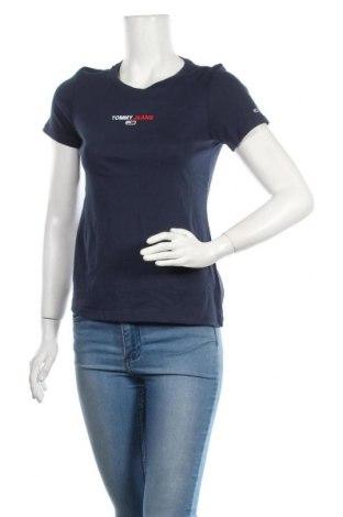 Γυναικείο t-shirt Tommy Hilfiger, Μέγεθος S, Χρώμα Μπλέ, 100% βαμβάκι, Τιμή 30,54€