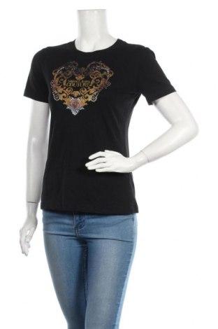 Γυναικείο t-shirt Versace Jeans, Μέγεθος M, Χρώμα Μαύρο, Τιμή 69,20€