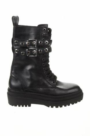 Dámské boty  Zara, Velikost 39, Barva Černá, Pravá kůže, Cena  1428,00Kč