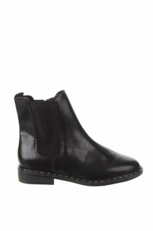 Дамски боти Zara, Размер 40, Цвят Черен, Еко кожа, Цена 59,25лв.