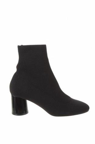 Дамски боти Zara, Размер 37, Цвят Черен, Текстил, Цена 59,25лв.