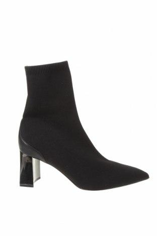 Дамски боти Zara, Размер 39, Цвят Черен, Текстил, еко кожа, Цена 59,25лв.