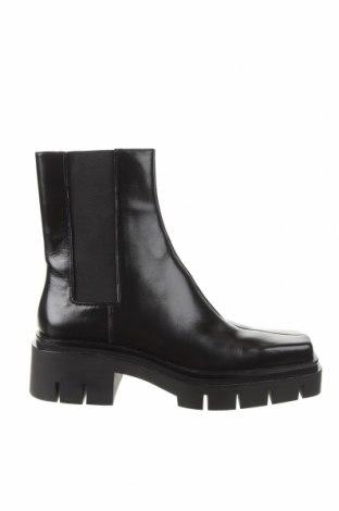 Дамски боти Zara, Размер 40, Цвят Черен, Естествена кожа, Цена 126,75лв.