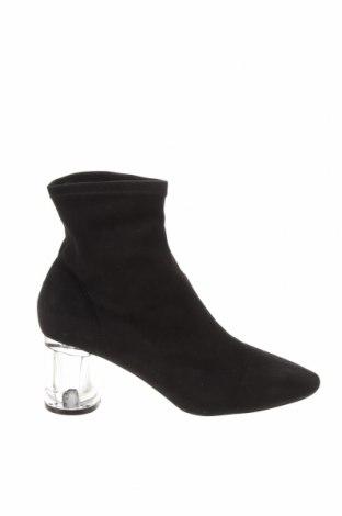 Дамски боти Zara, Размер 40, Цвят Черен, Текстил, Цена 59,25лв.
