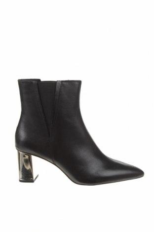 Дамски боти Zara, Размер 39, Цвят Черен, Естествена кожа, Цена 111,75лв.