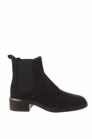Дамски боти Zara, Размер 38, Цвят Черен, Текстил, Цена 66,75лв.