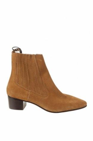 Дамски боти Zara, Размер 40, Цвят Кафяв, Естествен велур, Цена 89,25лв.