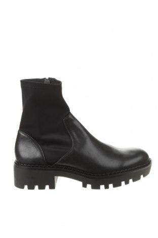 Γυναικεία μποτάκια Zara, Μέγεθος 37, Χρώμα Μαύρο, Δερματίνη, κλωστοϋφαντουργικά προϊόντα, Τιμή 17,43€