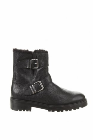 Дамски боти Zara, Размер 37, Цвят Черен, Естествена кожа, Цена 96,75лв.