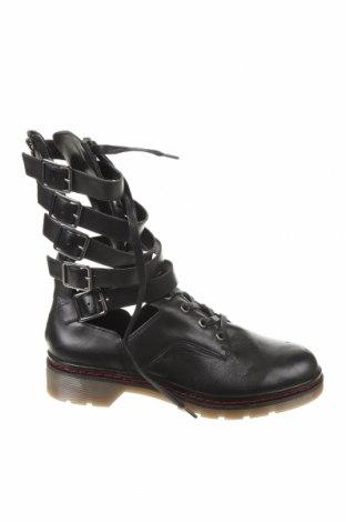 Γυναικεία μποτάκια Zara, Μέγεθος 39, Χρώμα Μαύρο, Γνήσιο δέρμα, Τιμή 42,24€