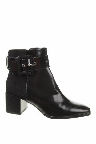 Γυναικεία μποτάκια Zara, Μέγεθος 41, Χρώμα Μαύρο, Δερματίνη, κλωστοϋφαντουργικά προϊόντα, Τιμή 25,23€