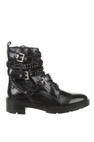 Дамски боти Zara, Размер 41, Цвят Черен, Естествена кожа, Цена 67,05лв.