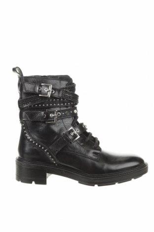 Дамски боти Zara, Размер 39, Цвят Черен, Естествена кожа, Цена 64,07лв.