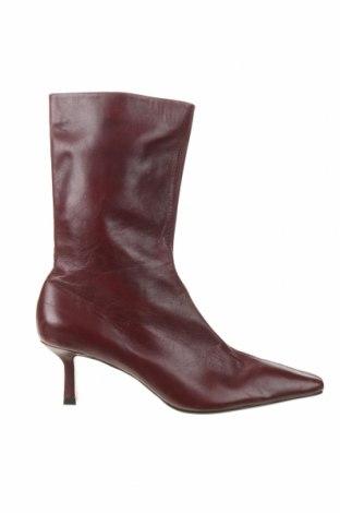 Dámské boty  Zara, Velikost 40, Barva Červená, Pravá kůže, Cena  857,00Kč