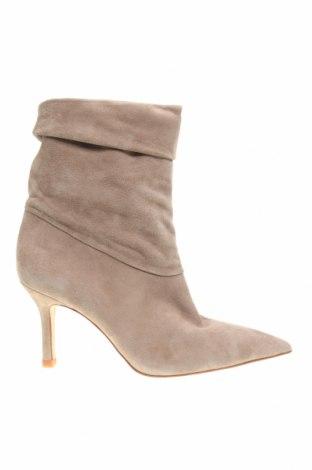 Γυναικεία μποτάκια Zara, Μέγεθος 39, Χρώμα  Μπέζ, Φυσικό σουέτ, Τιμή 31,14€