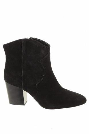 Дамски боти Zara, Размер 40, Цвят Черен, Естествен велур, Цена 27,80лв.