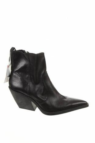 Dámské boty  Zara, Velikost 41, Barva Černá, Pravá kůže, Cena  705,00Kč