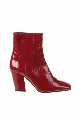 Дамски боти Zara, Размер 37, Цвят Червен, Естествена кожа, Цена 106,50лв.
