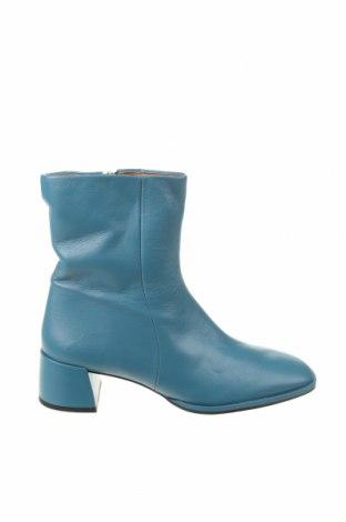 Дамски боти Zara, Размер 38, Цвят Син, Естествена кожа, Цена 67,65лв.