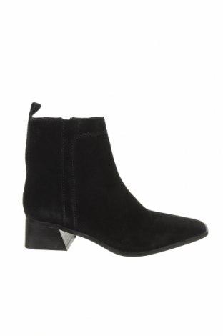 Γυναικεία μποτάκια Zara, Μέγεθος 39, Χρώμα Μαύρο, Φυσικό σουέτ, Τιμή 51,03€