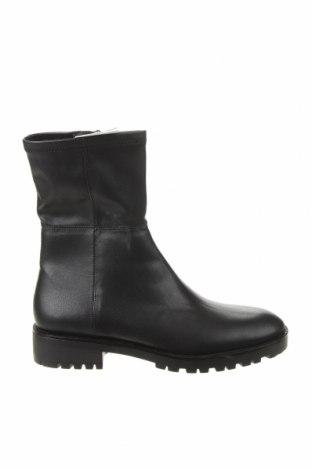 Γυναικεία μποτάκια Zara, Μέγεθος 41, Χρώμα Μαύρο, Δερματίνη, Τιμή 17,24€