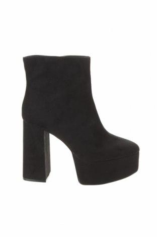 Дамски боти Zara, Размер 39, Цвят Черен, Текстил, Цена 66,75лв.