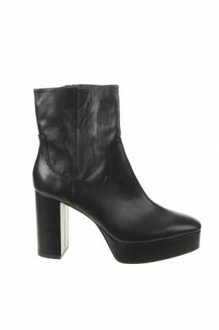 Γυναικεία μποτάκια Zara, Μέγεθος 40, Χρώμα Μαύρο, Γνήσιο δέρμα, Τιμή 30,90€