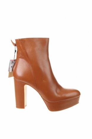 Dámské boty  Zara, Velikost 38, Barva Hnědá, Pravá kůže, Cena  863,00Kč