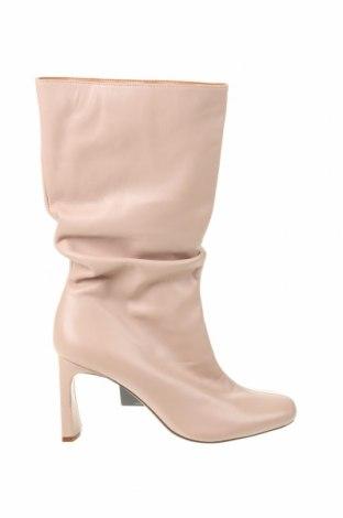 Dámské boty  Bershka, Velikost 39, Barva Růžová, Pravá kůže, Cena  1067,00Kč