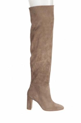 Cizme de damă Zara, Mărime 37, Culoare Bej, Velur natural, Preț 490,96 Lei
