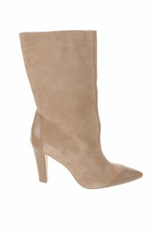 Dámské boty  Zara, Velikost 39, Barva Béžová, Přírodní velur , pravá kůže, Cena  1375,00Kč