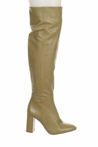 Γυναικείες μπότες Zara, Μέγεθος 38, Χρώμα Πράσινο, Γνήσιο δέρμα, Τιμή 73,07€