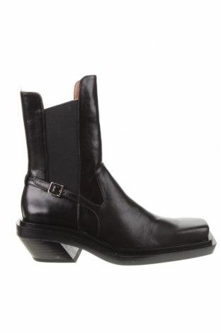 Дамски боти Zara, Размер 37, Цвят Черен, Естествена кожа, Цена 36,57лв.