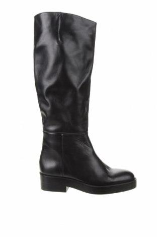 Γυναικείες μπότες Zara, Μέγεθος 36, Χρώμα Μαύρο, Γνήσιο δέρμα, Τιμή 65,33€