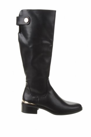 Дамски ботуши Zara, Размер 39, Цвят Черен, Еко кожа, Цена 76,30лв.