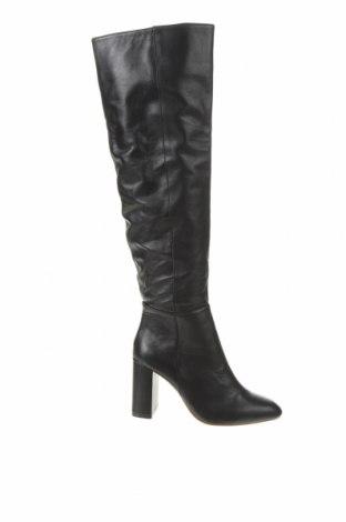 Дамски ботуши Zara, Размер 35, Цвят Черен, Естествена кожа, Цена 141,75лв.