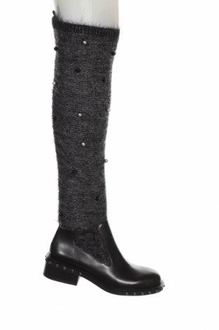 Dámské boty  Zara, Velikost 37, Barva Černá, Pravá kůže, textile , Cena  1837,00Kč