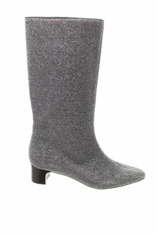 Дамски ботуши Zara, Размер 37, Цвят Сребрист, Текстил, Цена 22,77лв.