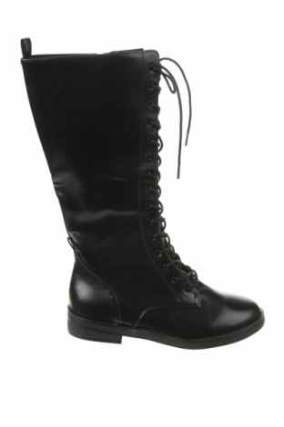 Дамски ботуши Zara, Размер 37, Цвят Черен, Еко кожа, Цена 81,75лв.